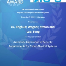 Best Paper Award IC4S